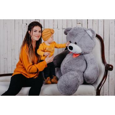 Большая мягкая игрушка мишка Билли 150см Серый