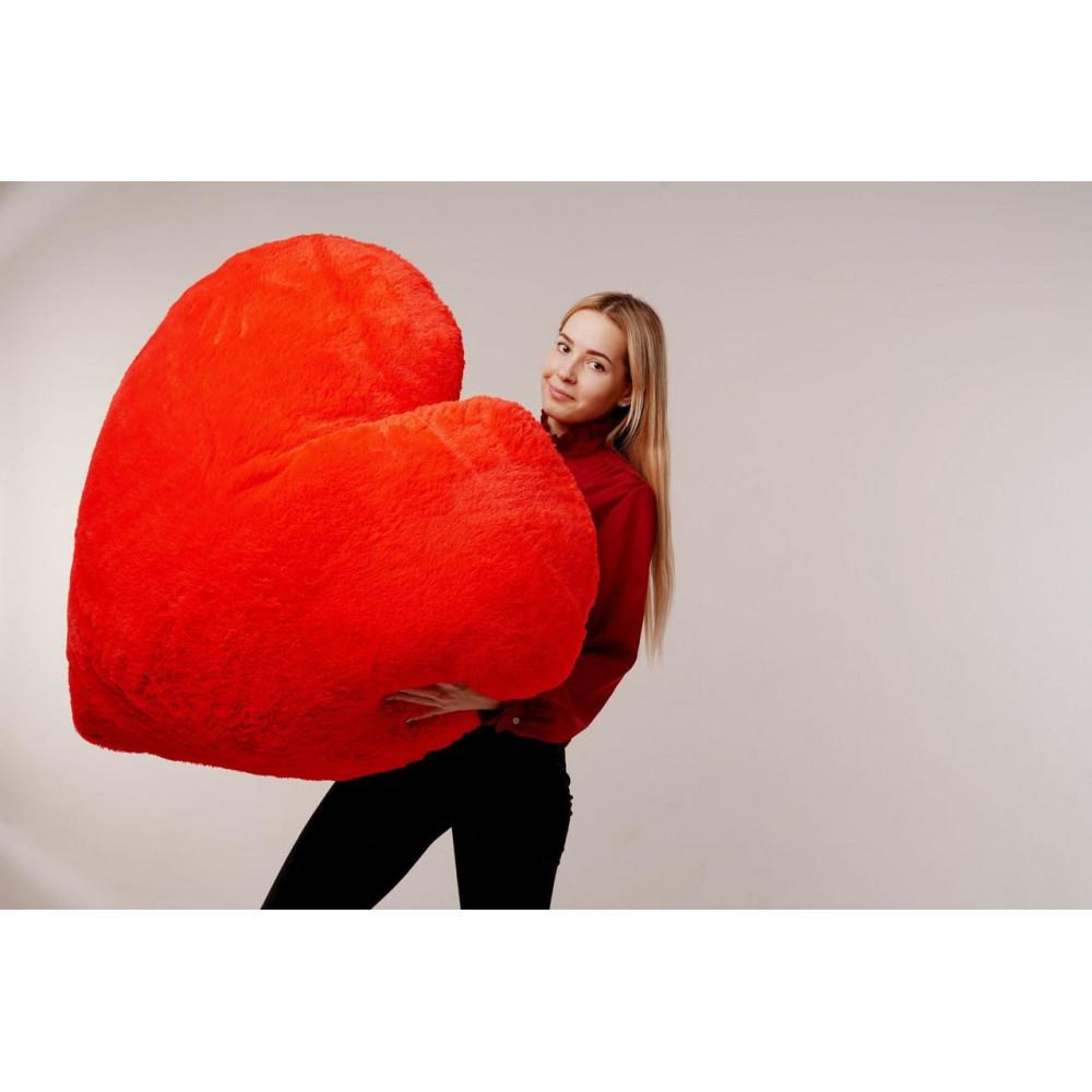 """Мягкая игрушка подушка """"Сердце"""" 150см Красная"""