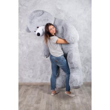 Огромный мягкий мишка Уильям 250см Серый