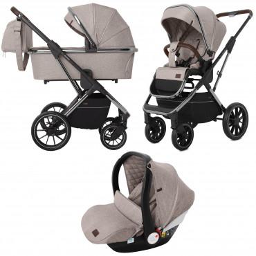Универсальная коляска CARRELLO Aurora CRL-6502 /1 (3in1) Almond Beige +дождевик /1/