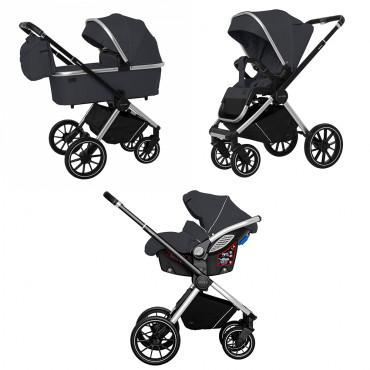 Универсальная коляска CARRELLO Optima CRL-6504 (3in1) Platinum Grey в льне /1/