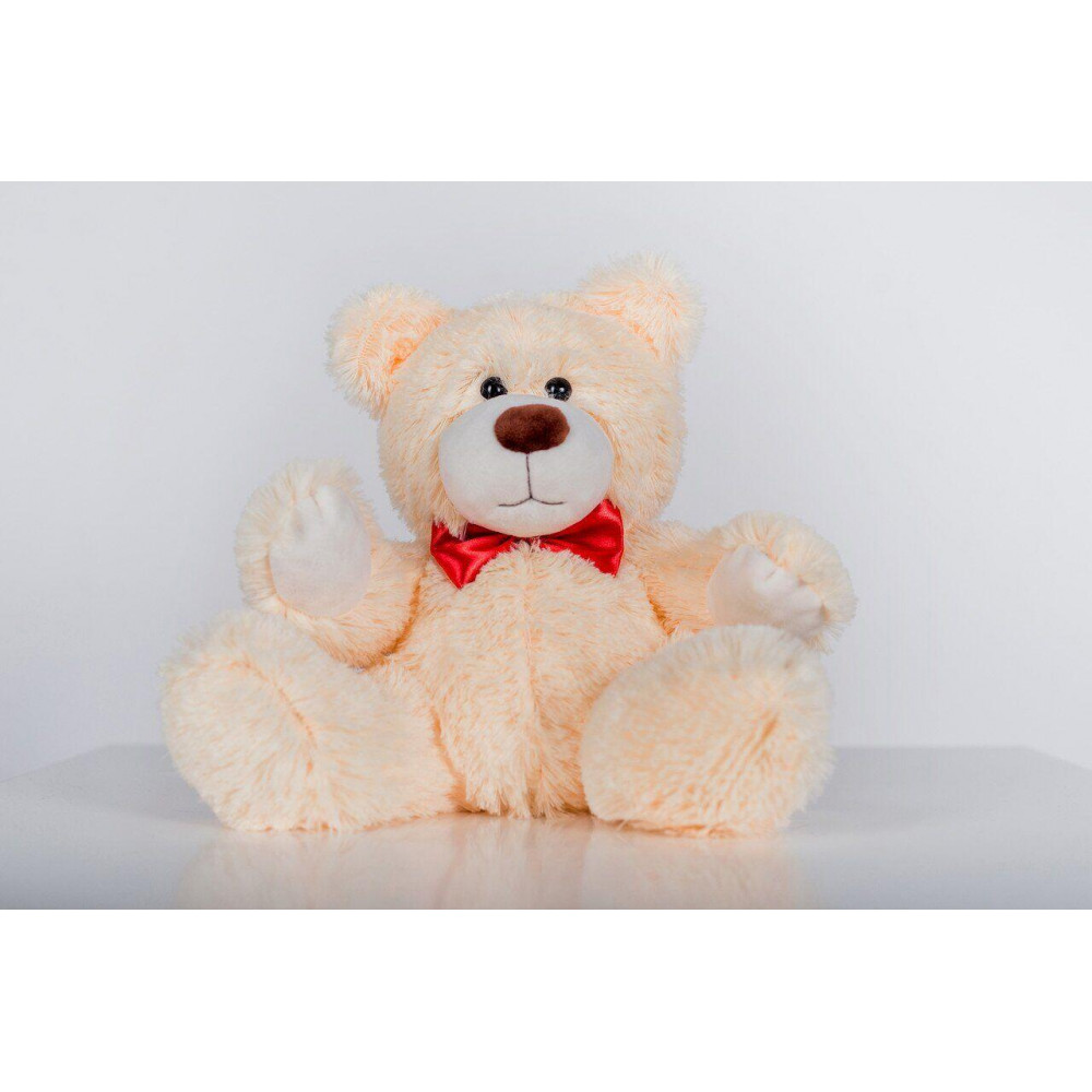 Плюшевий ведмедик Рональд 35см Персиковий