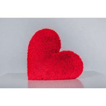Плюшевый мишка с сердечком Джеймс 65см Шоколадный