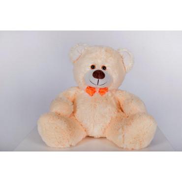 Плюшевий ведмедик з сердечком Джеймс 65см Персиковий