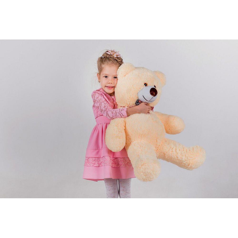 Плюшевий ведмідь Джиммі 90см Персиковий