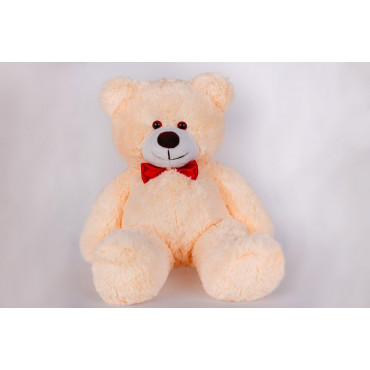 Плюшевий ведмедик з сердечком Джиммі 90см Персиковий