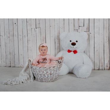 Плюшевий ведмедик Бенджамін 135см Білий