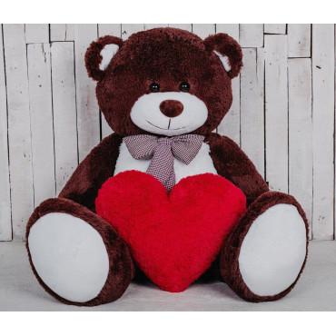 Большая мягкая игрушка мишка Билли 150см Шоколадный