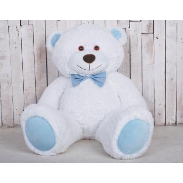 Велика м'яка іграшка ведмедик Біллі 150см Білий