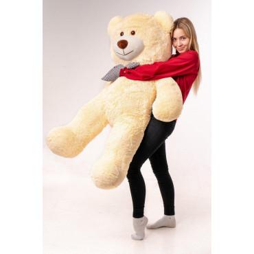 Большой плюшевый медведь Джеральд 165см Персиковый