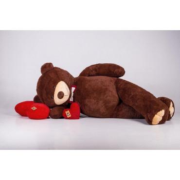 Огромный мягкий мишка Уильям 250см Шоколадный