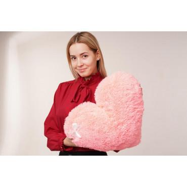 """Мягкая игрушка подушка """"Сердце"""" 50см Розовая"""