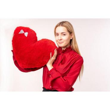 """Мягкая игрушка подушка """"Сердце"""" 50см Красная"""