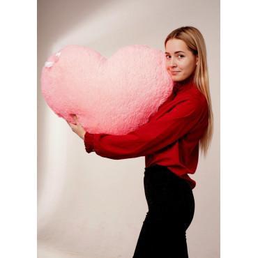 """Мягкая игрушка подушка """"Сердце"""" 75см Розовая"""