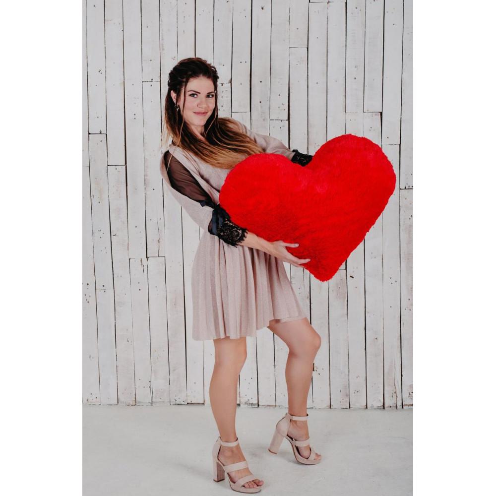 """Мягкая игрушка подушка """"Сердце"""" 75см Красная"""