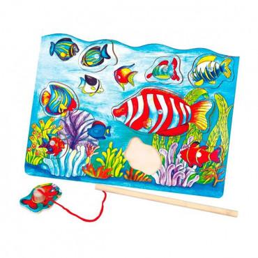 Деревянная рамка-вкладыш Viga Toys Магнитная рыбалка
