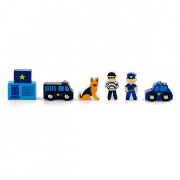 Набор для железной дороги Viga Toys Полицейский участок