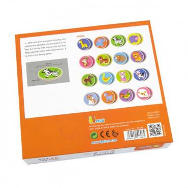 Деревянная настольная игра Viga Toys Мемори-зверята, 32 карточки