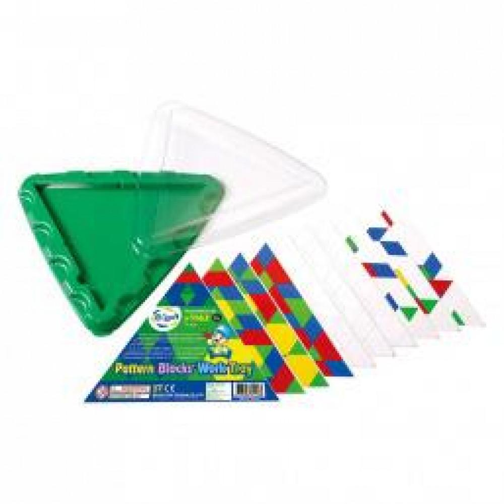Геометрична мозаїка Gigo з картками і трикутної основою, 10 ел.