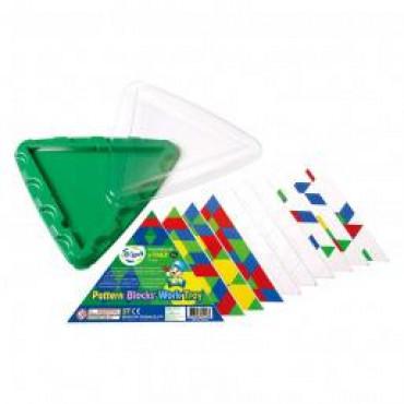Геометрическая мозаика Gigo с карточками и треугольной основой, 10 эл.