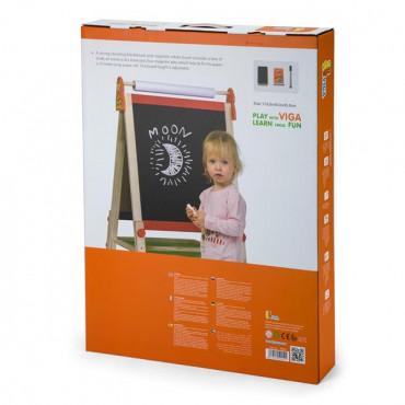 Деревянный мольберт Viga Toys двусторонний магнитный с бумагой