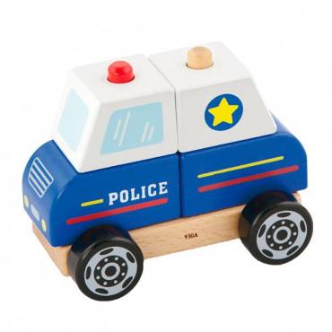 Деревянная пирамидка Viga Toys Полицейская машинка R