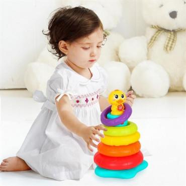 Музична пірамідка Hola Toys Каченя з підсвічуванням