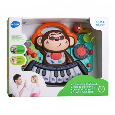Музична іграшка Hola Toys Піаніно-мавпочка з мікрофоном