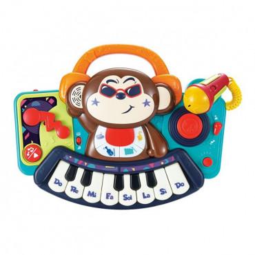Музыкальная игрушка Hola Toys Пианино-обезьянка с микрофоном