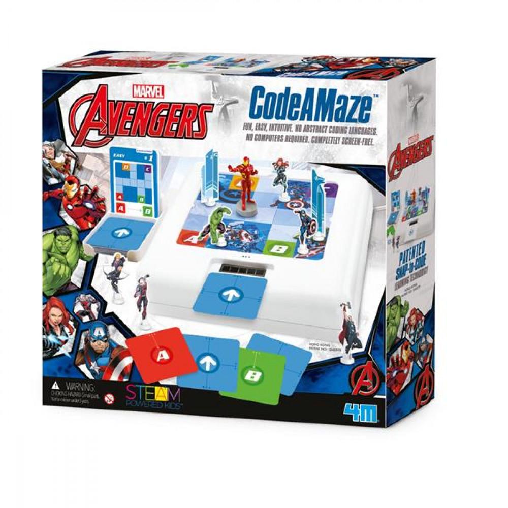 Набір для навчання дітей програмуванню 4M Disney Avengers Месники