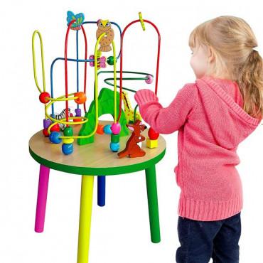Деревянный игровой центр Viga Toys Столик с лабиринтом