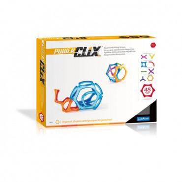 Магнитный конструктор Guidecraft PowerClix Organics, 48 деталей