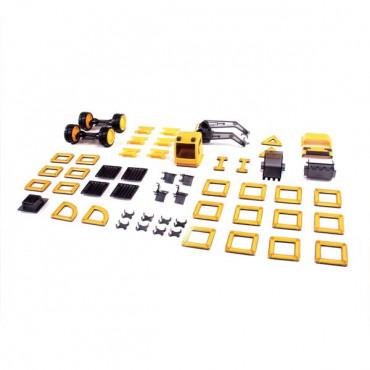 Магнітний конструктор Guidecraft PowerClix Будівельна техніка, 55 деталей