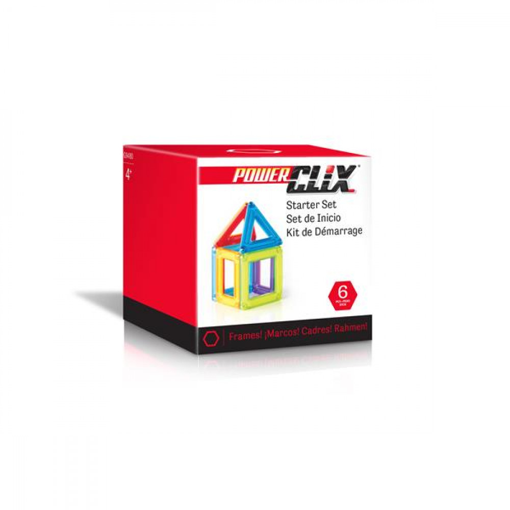 Магнітний конструктор Guidecraft PowerClix Frames Базовий набір, 6 деталей