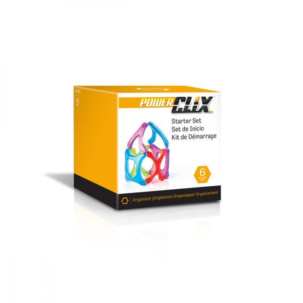 Магнитный конструктор Guidecraft PowerClix Organics Базовый набор, 6 деталей