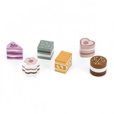 Игрушечные продукты Viga Toys PolarB Деревянные пирожные, 6 шт.