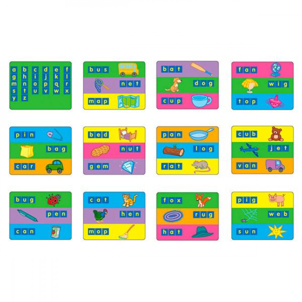 Комплект навчальних шаблонів Gigo для набору англійських букв