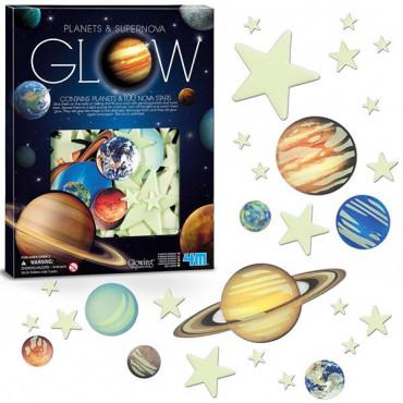 Набір світних наклейок 4M Планети і 100 зірок
