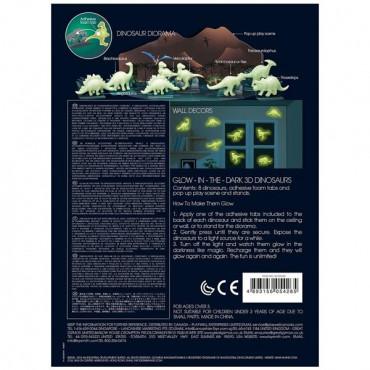 Набір світних 3D-наклейок 4M Динозаври