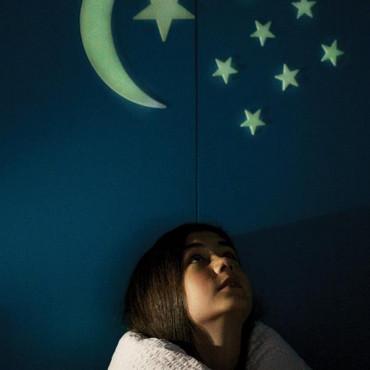 Набор светящихся наклеек 4M Луна и звезды, 13 шт.