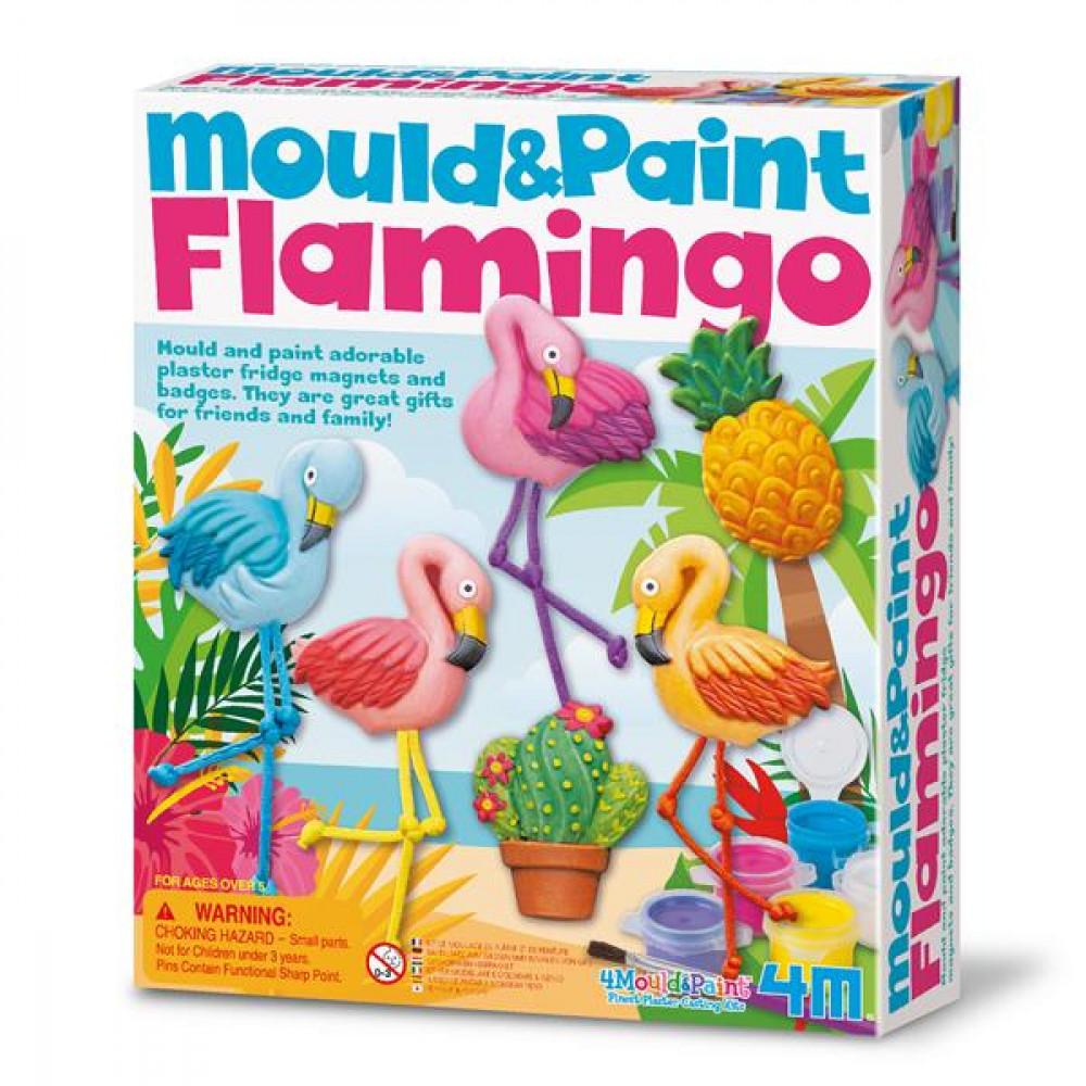 Набір для творчості 4M Магніти з гіпсу Фламінго