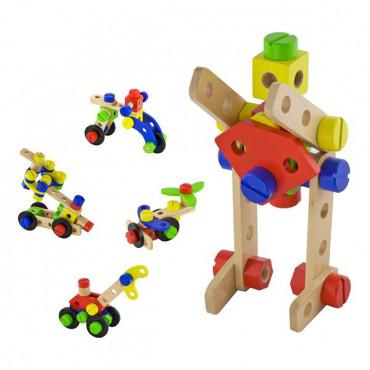Деревянный конструктор Viga Toys 48 эл.