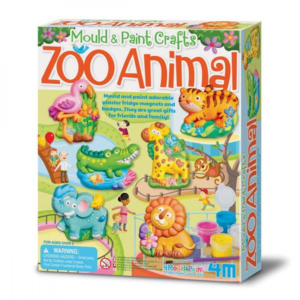 Набір для творчості 4M Магніти з гіпсу Зоопарк