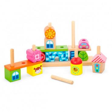Деревянная пирамидка Viga Toys Городок