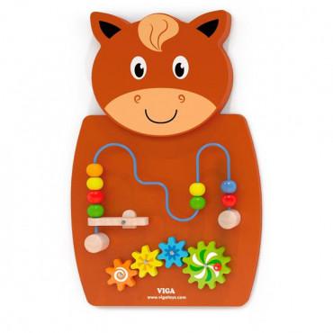 Бизиборд Viga Toys Лошадка с лабиринтом