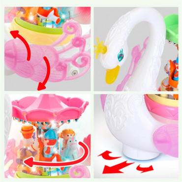 Музыкальная игрушка Hola Toys Лебедь-карусель