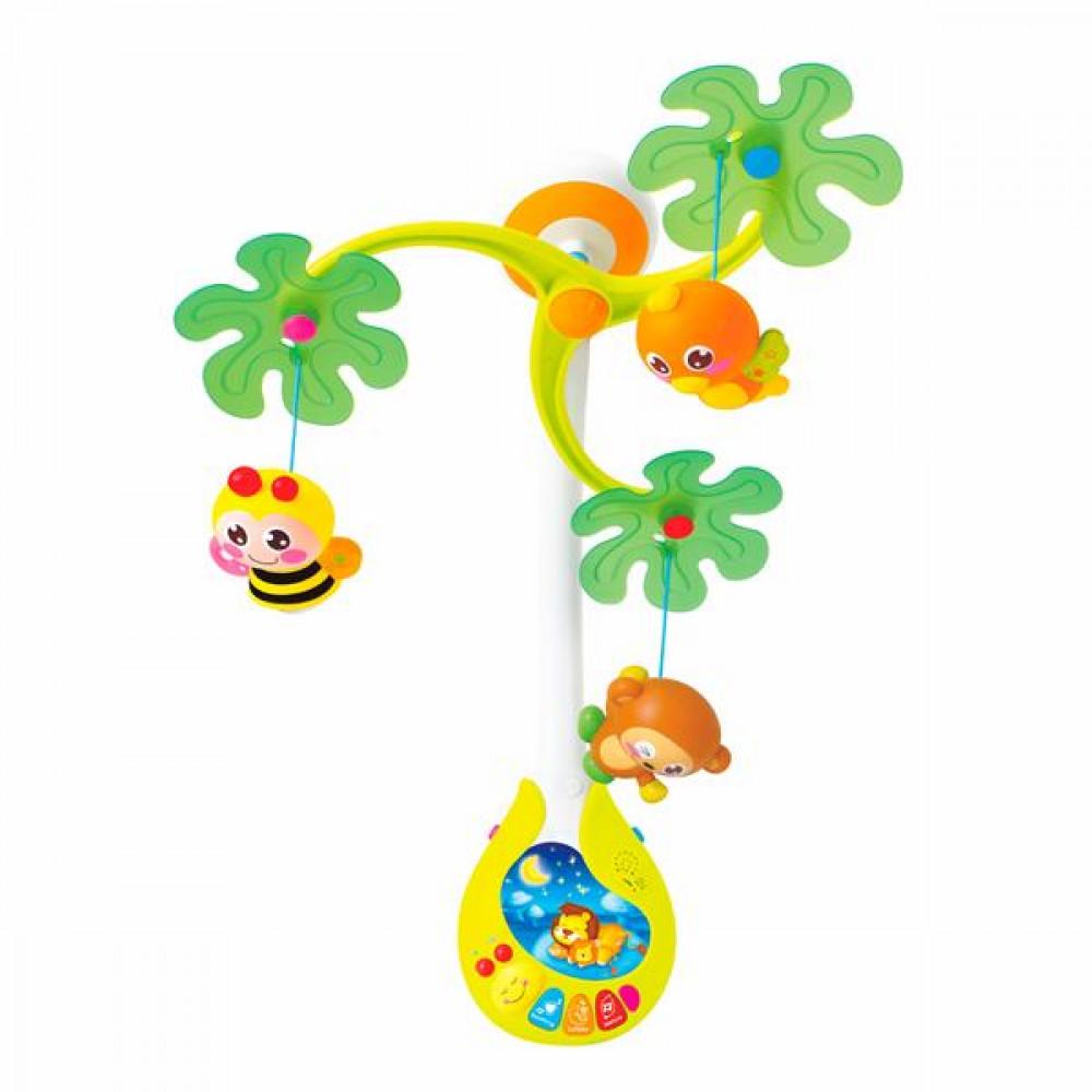 Музыкальный мобиль на кроватку Hola Toys Веселый остров