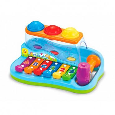 Музыкальная игрушка Hola Toys Ксилофон-стучалка с шариками