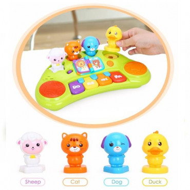 Музична розвиваюча іграшка Hola Toys Піаніно зі звірятами