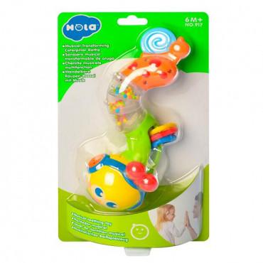 Музыкальная игрушка с прорезывателями Hola Toys Веселый червячок